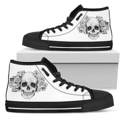 Skull - Black High Tops for Men