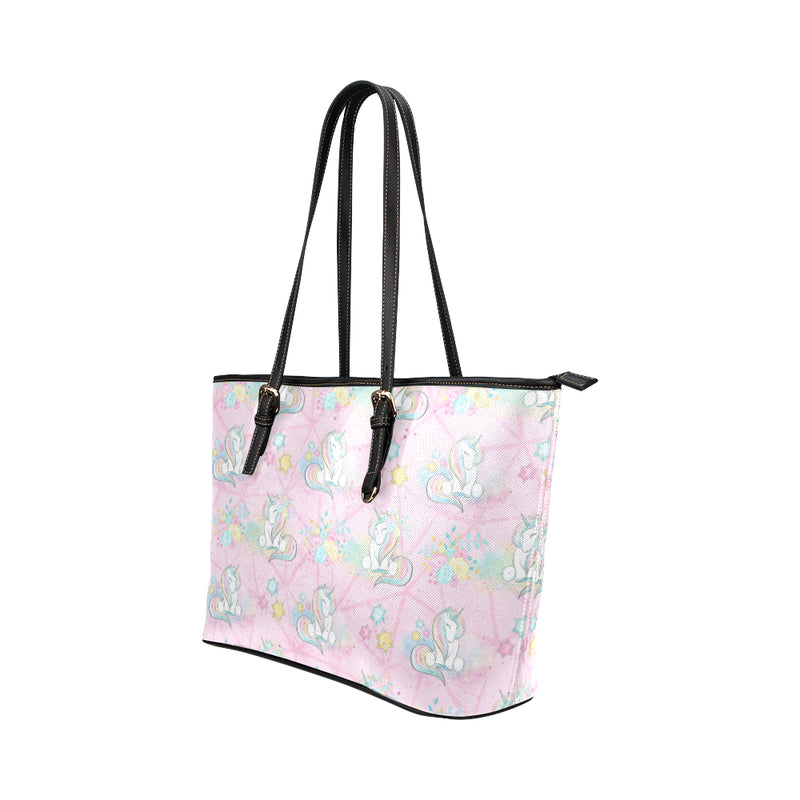 Unicorns & Pink - Leather Tote for Ladies