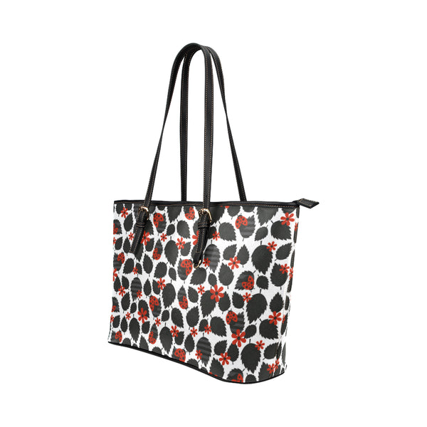 Dark Ladybugs - Leather Tote for Ladies