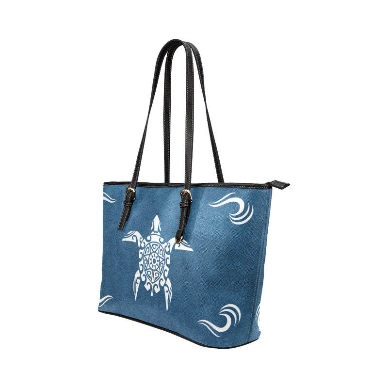 Sea Turtle - Leather Tote for Ladies