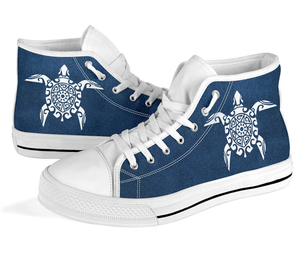 Sea Turtle - White High Tops for Women