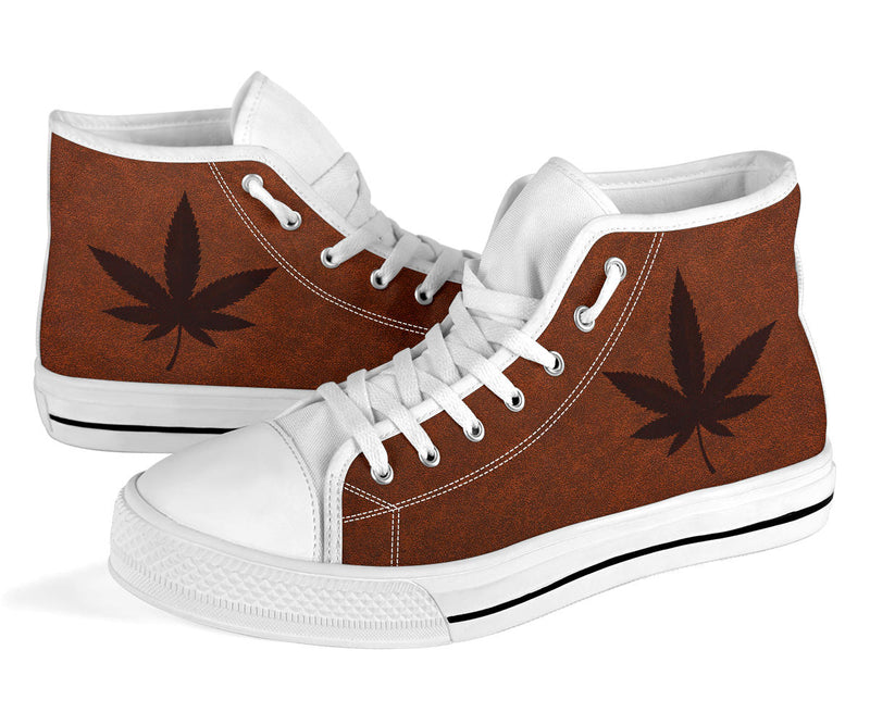 Weed - White High Tops for Women