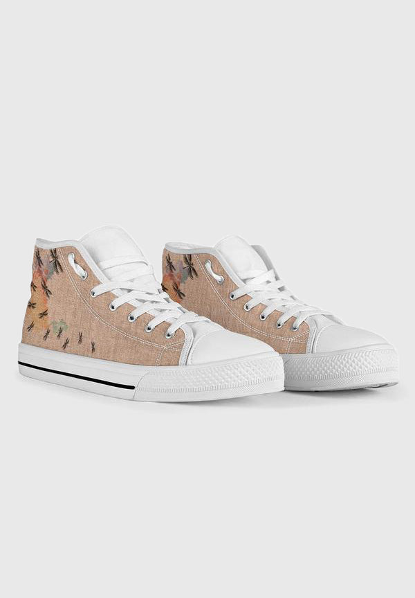Dragonfly - White High Tops for Women