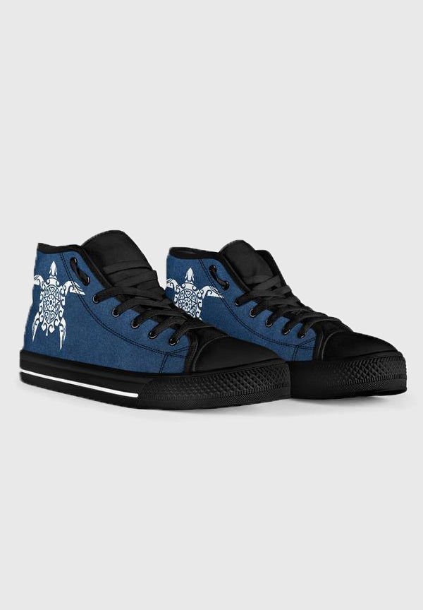 Sea Turtle - Back High Tops for Men