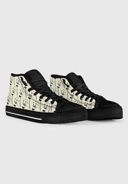 Panda - Black High Tops for Men