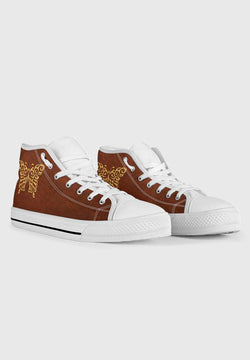 Butterfly - White High Tops for Women
