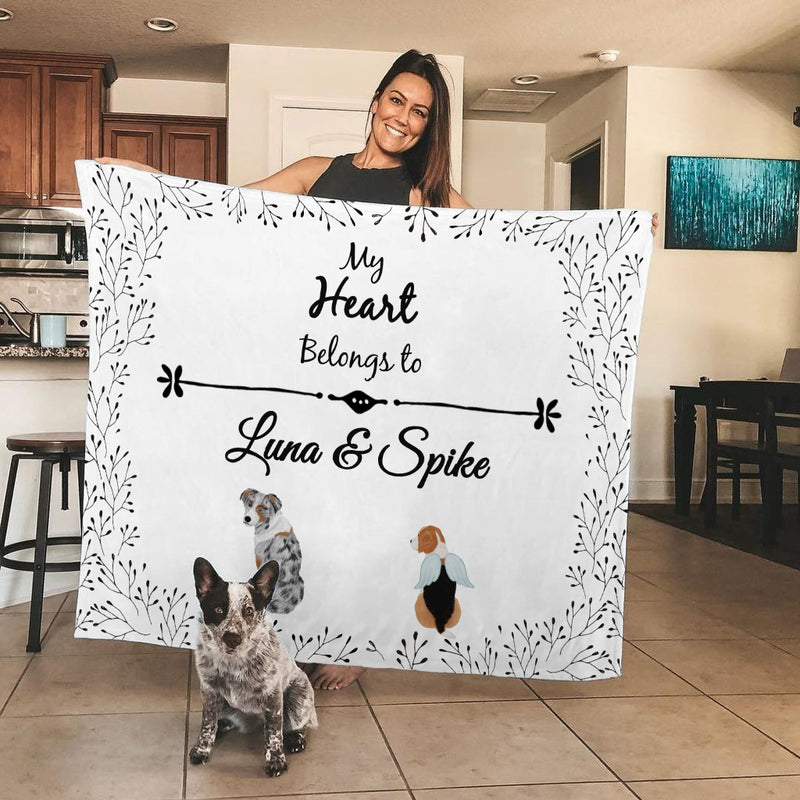 Personalized Premium Blanket (Watercolor Collection)