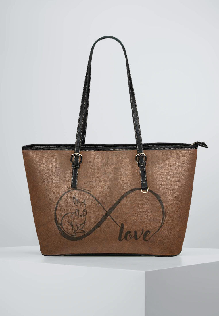 Love Bunnies - Leather Tote for Ladies