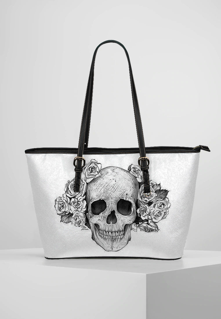 Skull - Leather Tote for Ladies