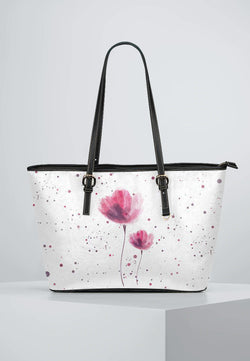Flowers - Leather Tote for Ladies