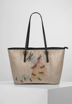 Dragonfly - Leather Tote for Ladies