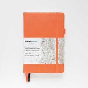 Open image in slideshow, QUEST Study Skills Journal: Be creatively productive, Saffron Orange