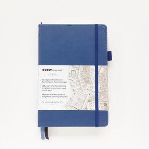 Open image in slideshow, QUEST Study Skills Journal: Be creatively productive, Indigo Blue