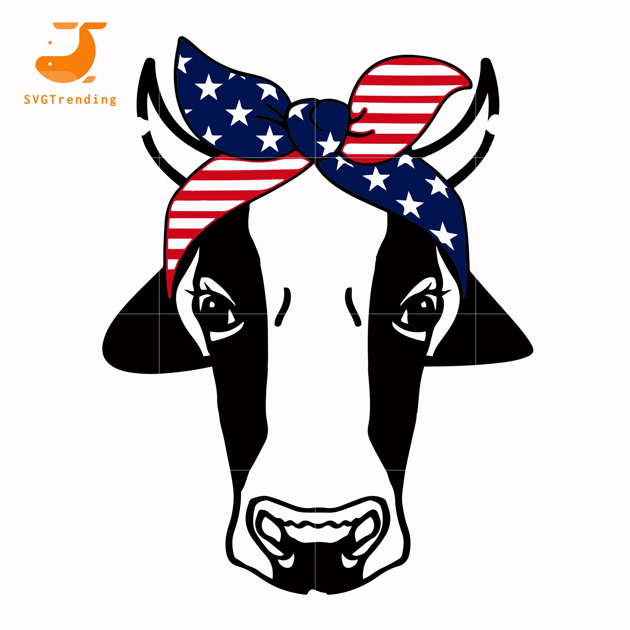 cow america svg, png, dxf, eps, digital file JULY0010
