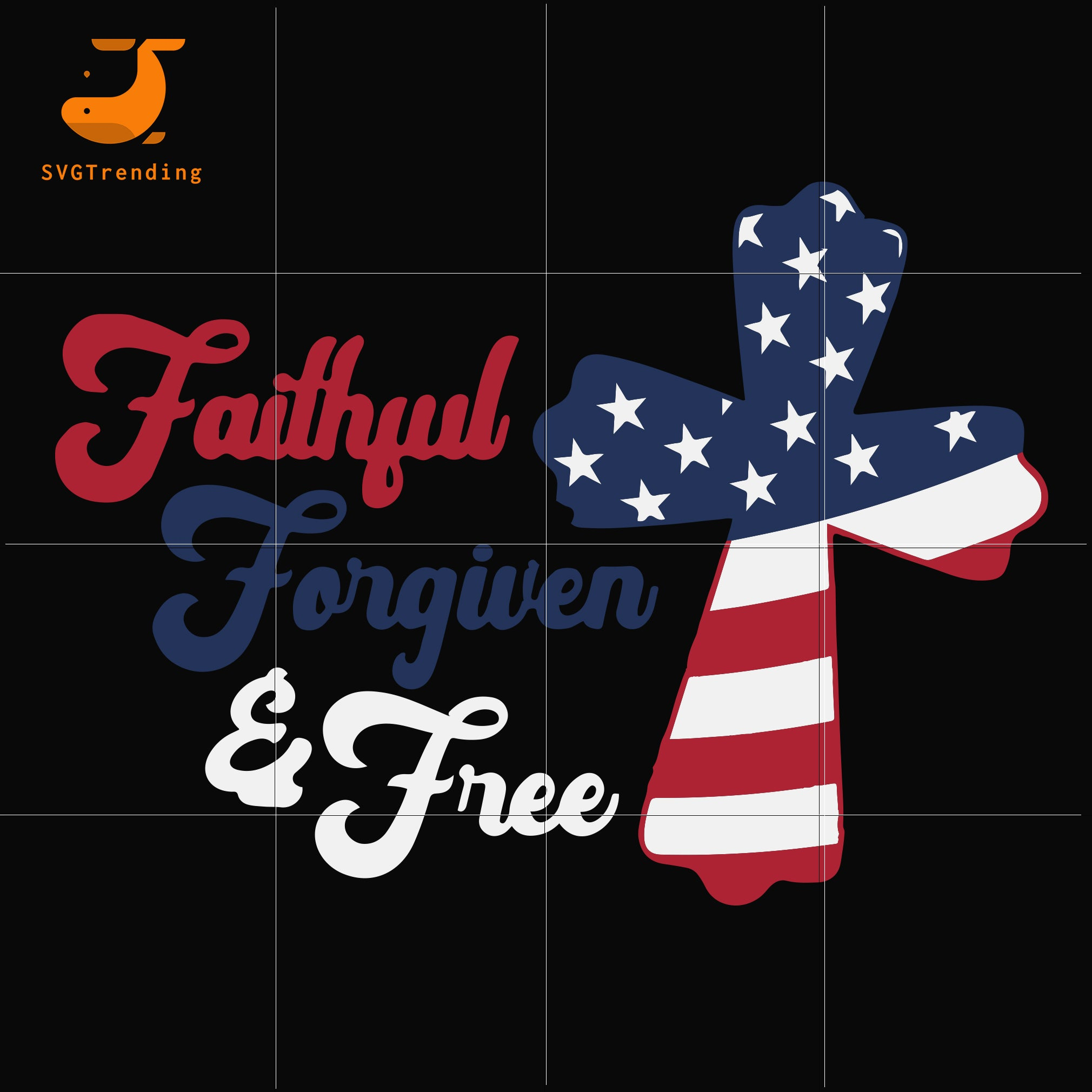 faithful forgiven and free svg, png, dxf, eps, digital file JULY0011