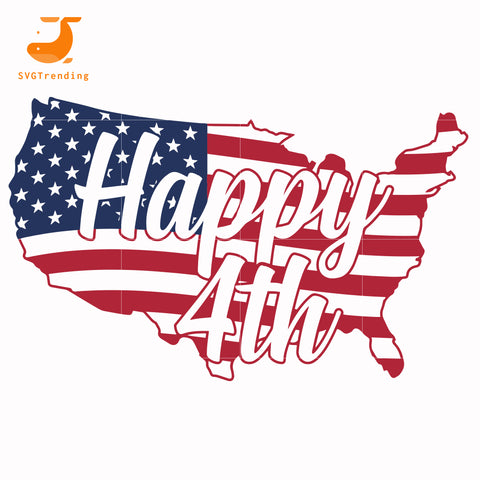 happy 4th america svg, png, dxf, eps, digital file