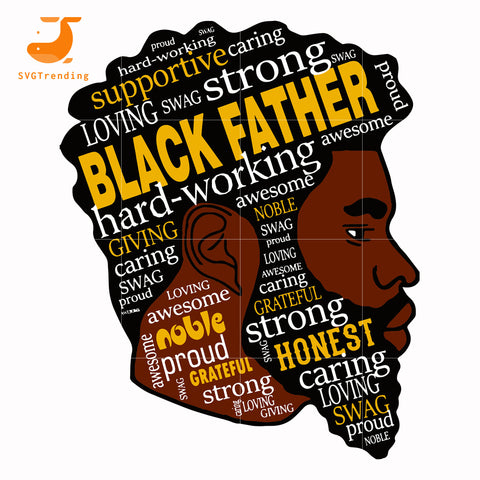 Black father svg, png, dxf, eps digital file TD136