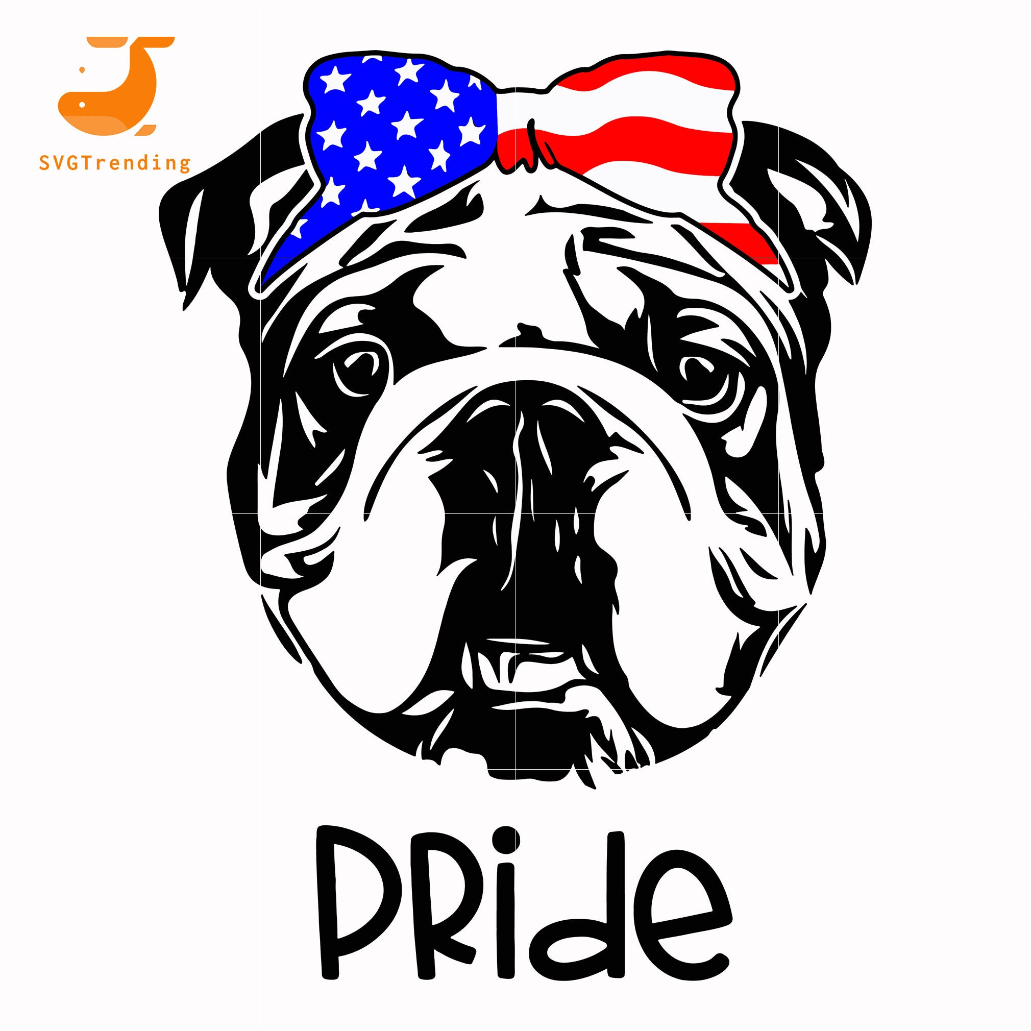 french bulldog america pride svg, png, dxf, eps, digital file JULY0072