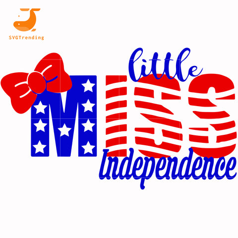 little miss independence svg, png, dxf, eps, digital file JULY0017