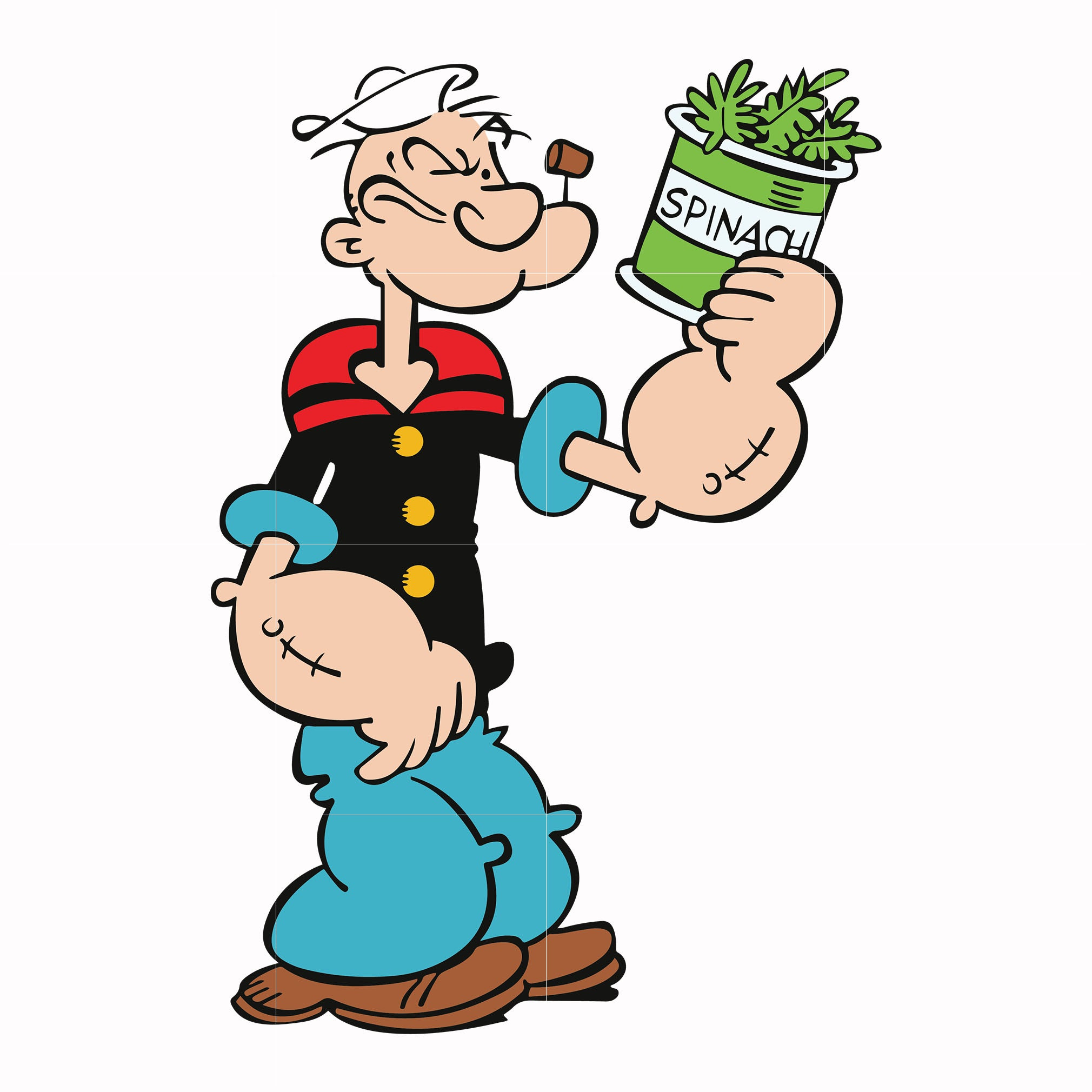 Popeye svg, popeye tv show svg ,dxf, eps, png digital file
