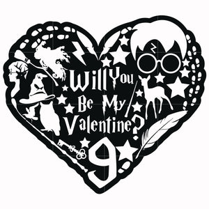Will you be my valentine svg, harry potter svg, potter svg for cut, svg, dxf, eps, png digital file