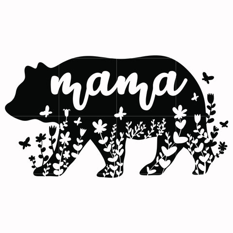 Mama bear svg, mother day svg, dxf, eps, png digital file