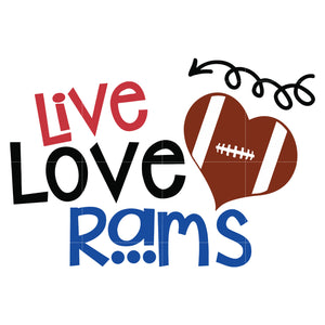 Live love rams svg, Los angeles rams svg, rams svg for cut