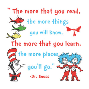 The more that you read the more things you will know, dr seuss svg, dr seuss quotes, digital file