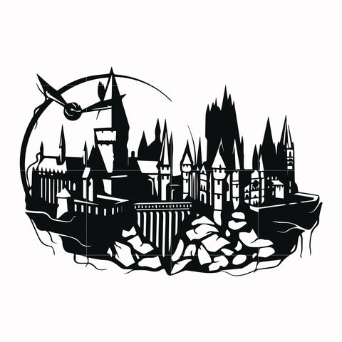 Harry potter hogwarts svg, potter svg for cut, svg, dxf, eps, png digital file