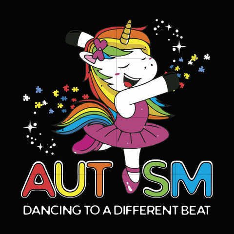 Autism dancing to a different beat svg, autism svg, autism awareness svg, dxf, eps, png digital file