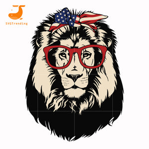 Lion face glasses svg, dxf, eps, png digital file