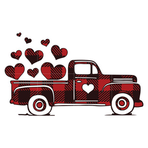 Valentine vintage truck svg, Valentine Svg, Love Svg, Valentine Day Svg, valentine's day, unicorn svg ,dxf, eps, png digital file