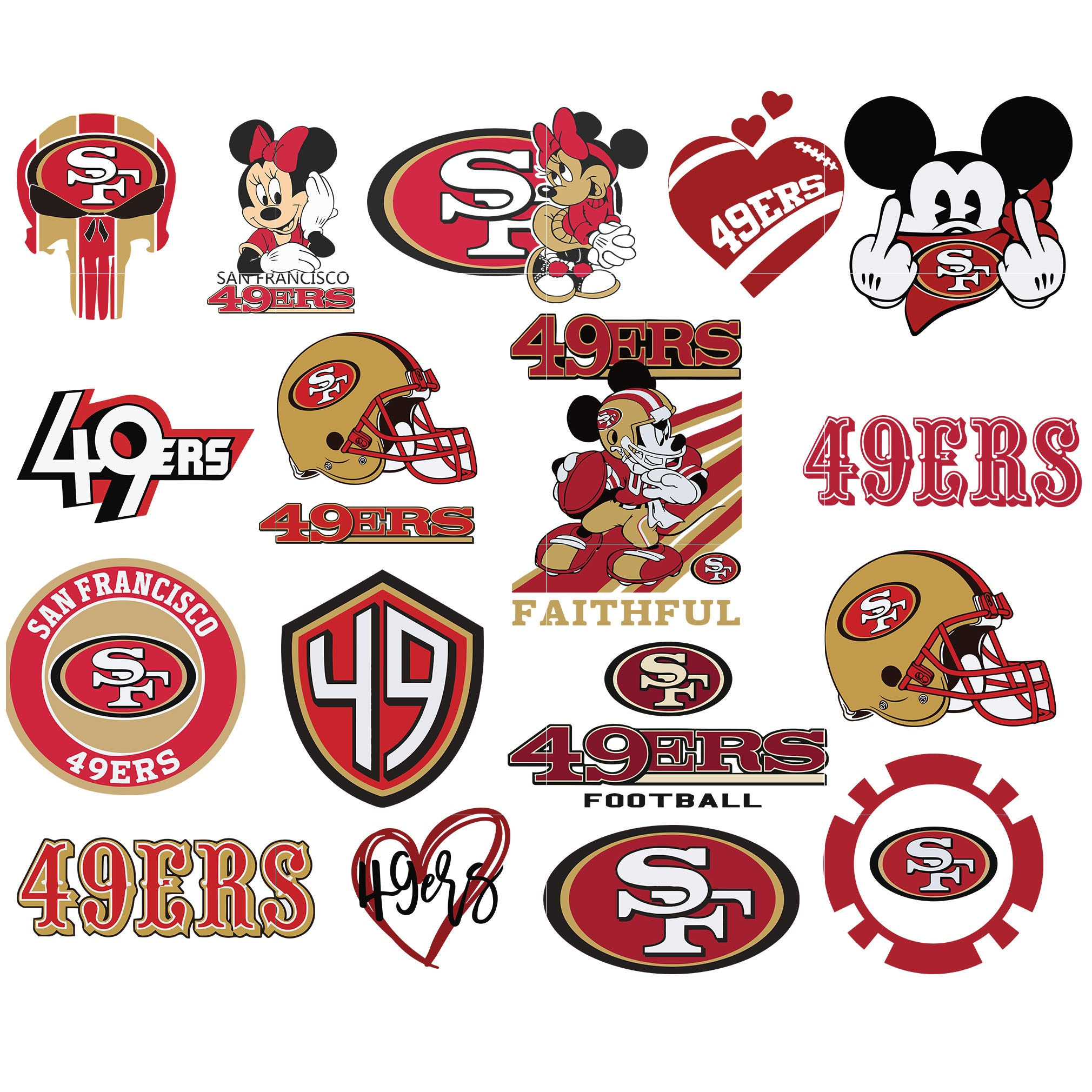 Unofficial San Francisco 49ers Logo Svg Custom Sf 49ers Logo Cut File Svgtrending