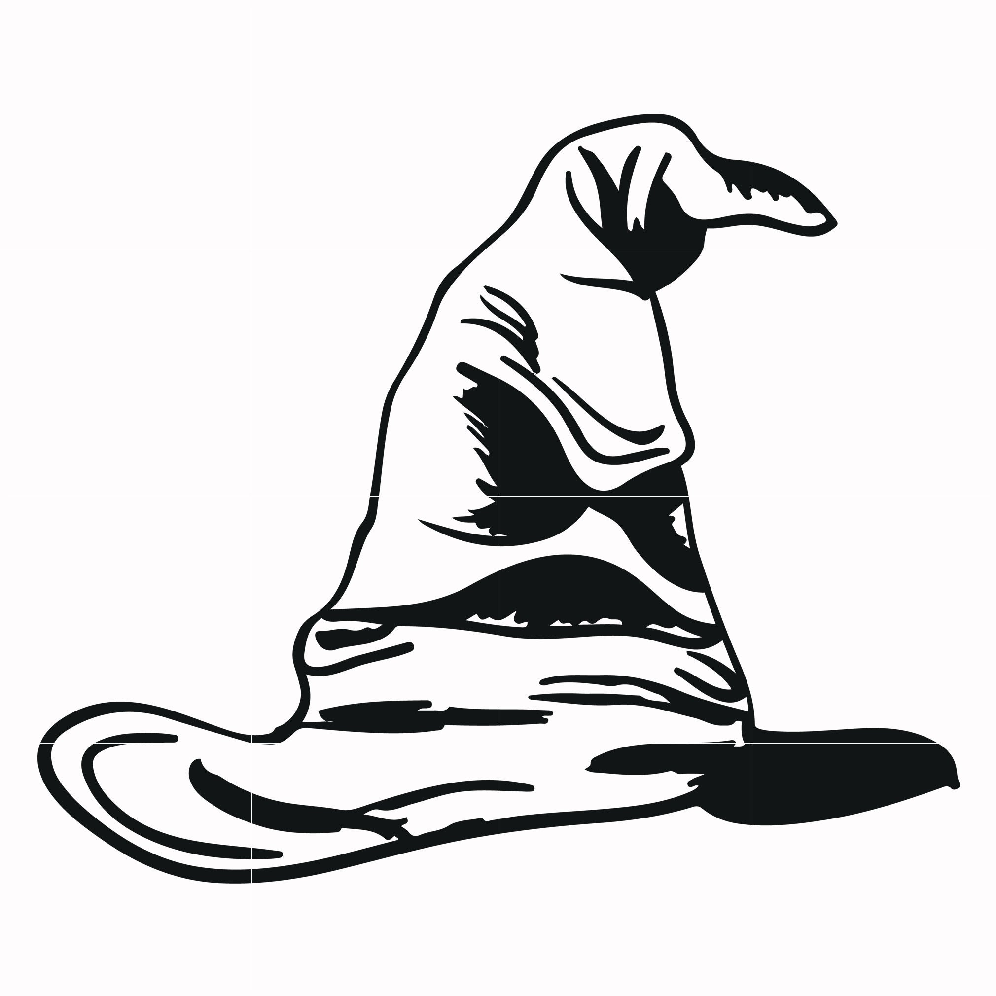 Sorting hat svg, potter svg for cut, svg, dxf, eps, png digital file