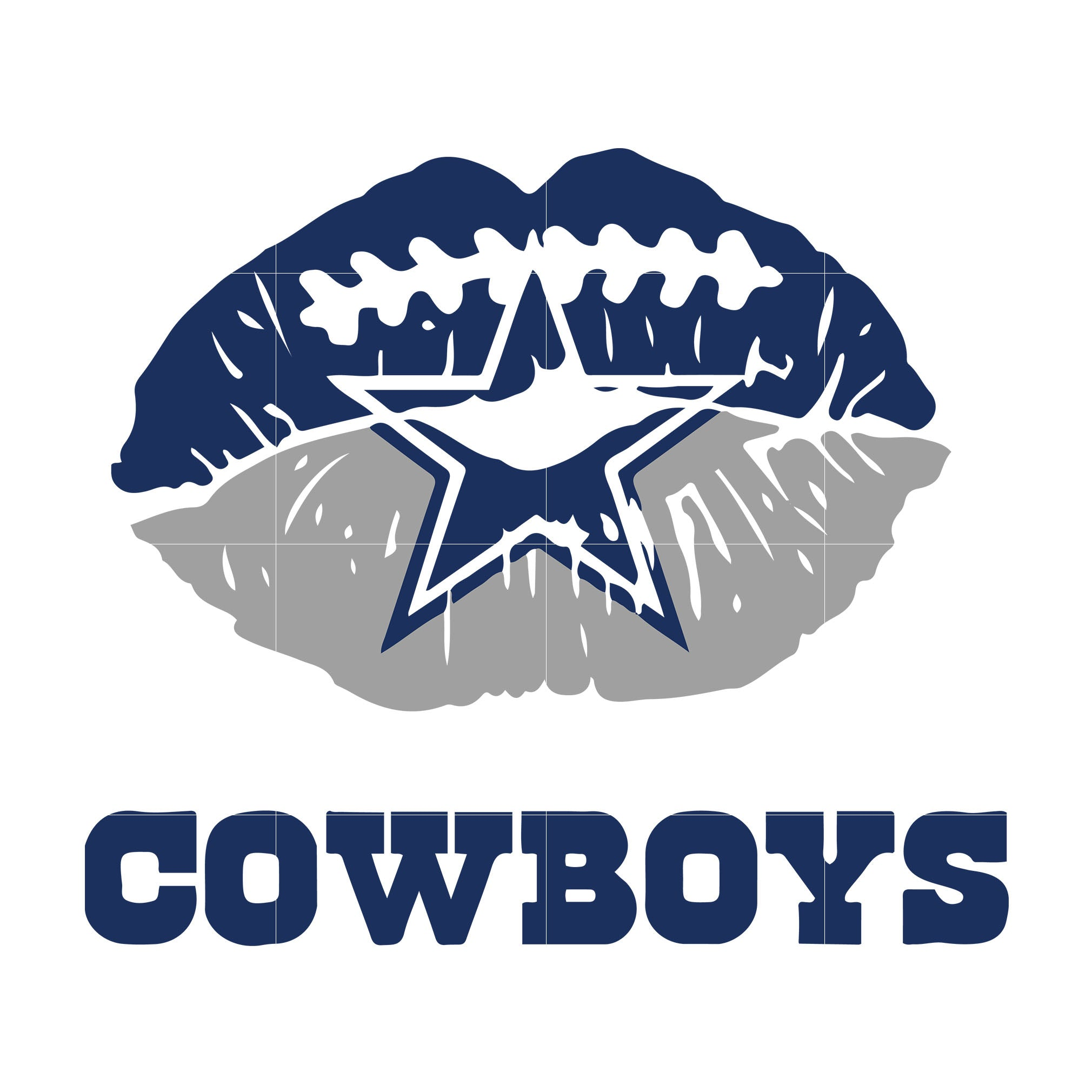 Cowboys lip svg, dallas cowboys svg, cowboys svg for cut