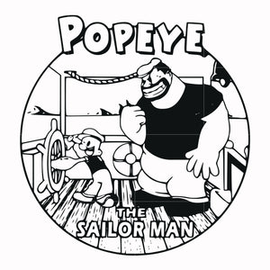 Popeye the sailor man svg, popeye tv show svg ,dxf, eps, png digital file
