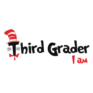 Third grader i am, the cat in the hat, dr seuss svg, dr seuss quotes, digital file