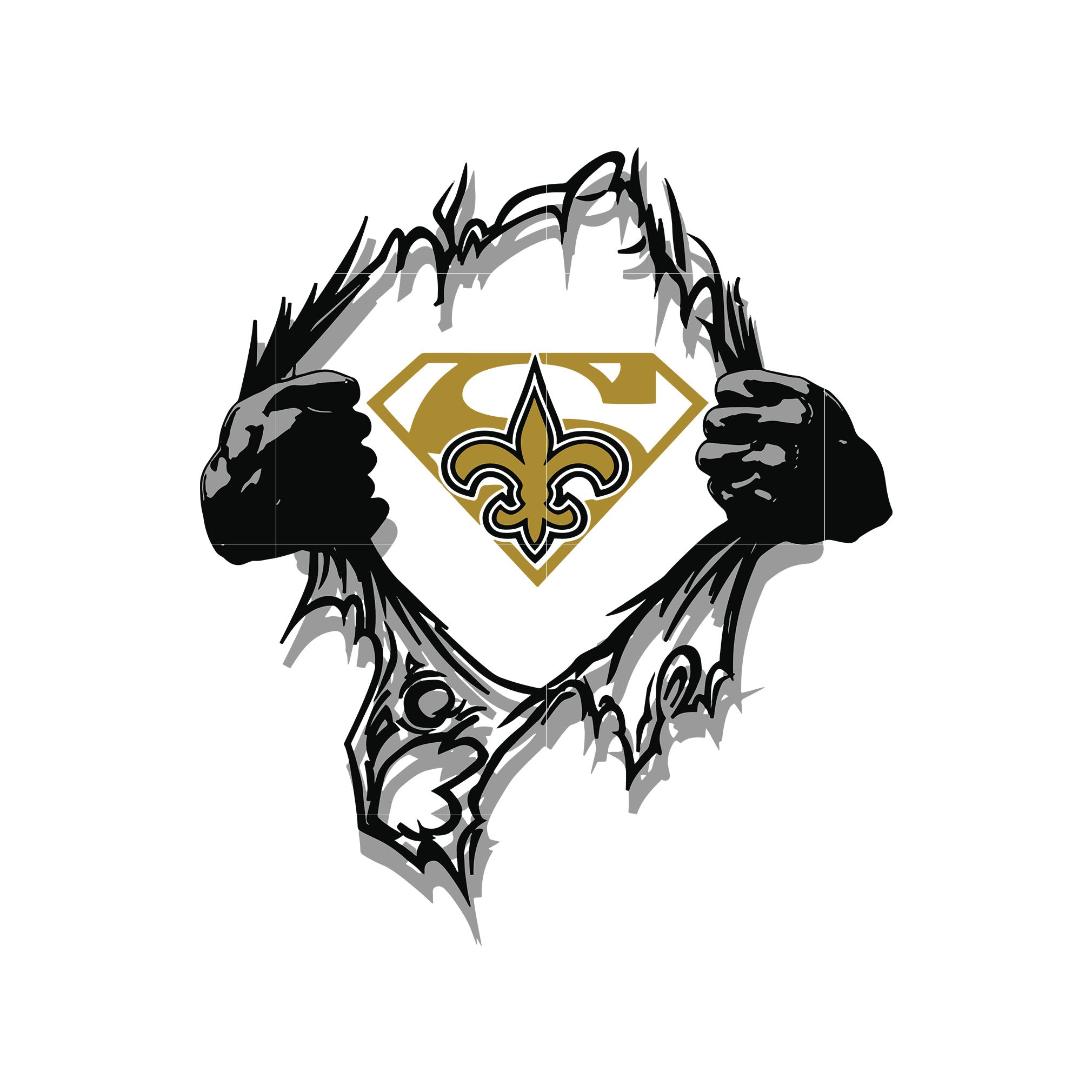 Saints super logo svg, new orleans saints svg, svg for cut