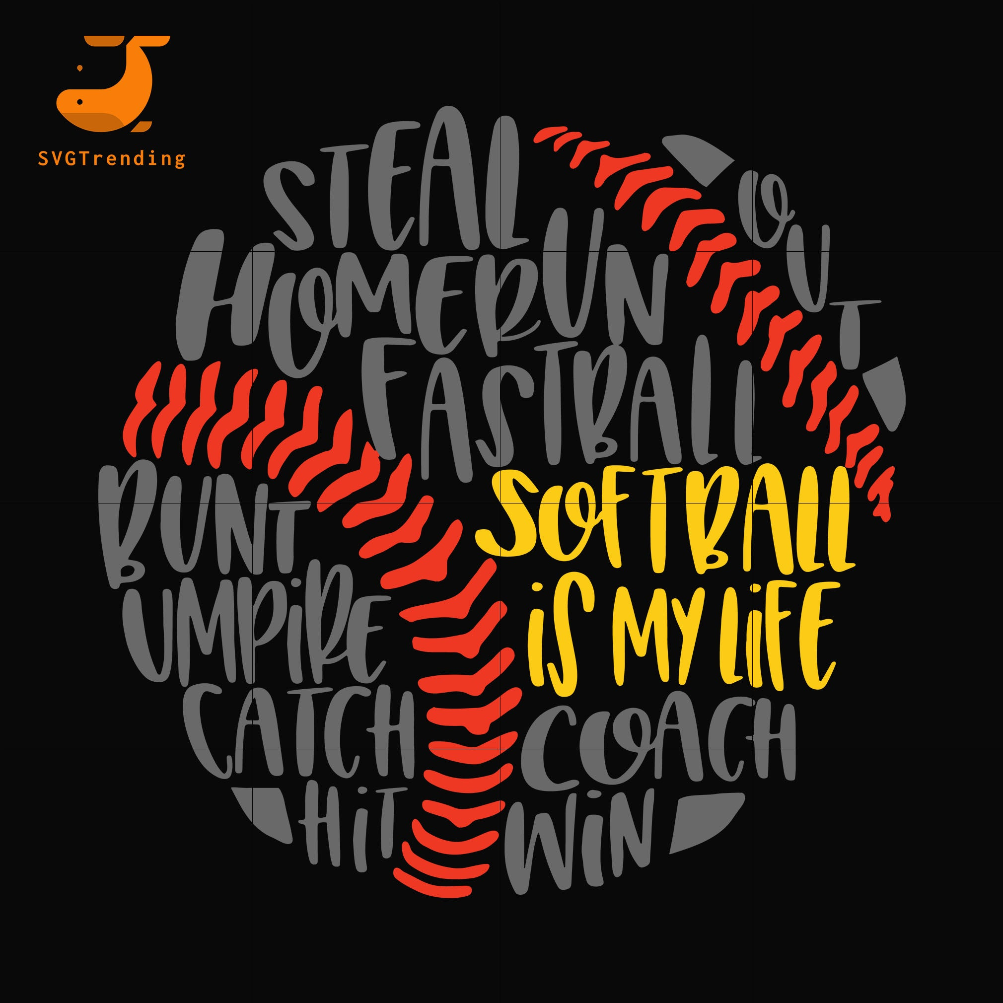 Softball is my life svg, mother day svg, dxf, eps, png digital file