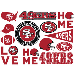 Unofficial San Francisco 49ers logo SVG, Custom SF 49ERS logo cut file SVG, vector illustraton - Svg, Png, Dxf, Eps, Ai, Jpg