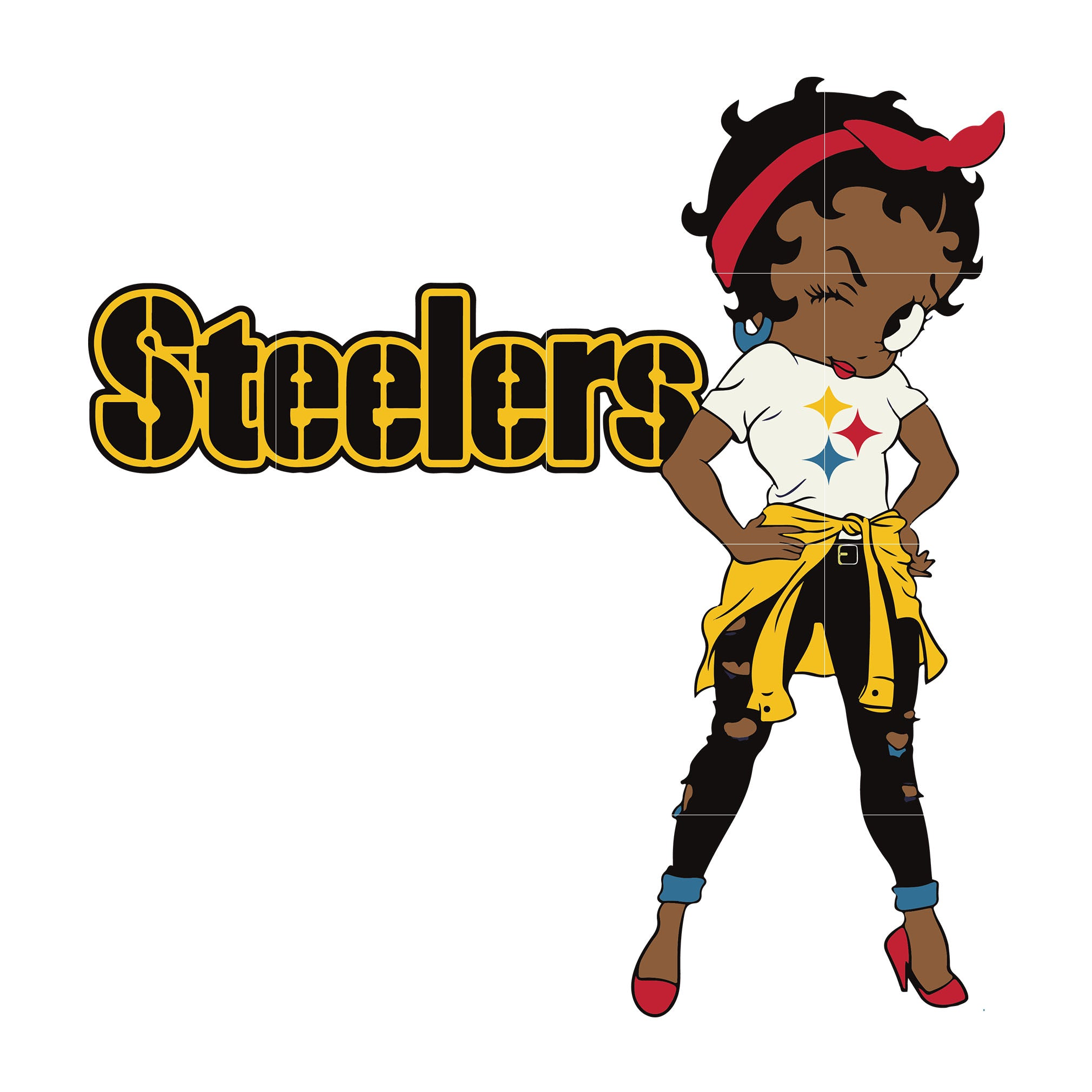 Betty boop Pittsburgh Steelers, Pittsburgh Steelers svg, png, dxf, eps. INSTANT DOWNLOAD