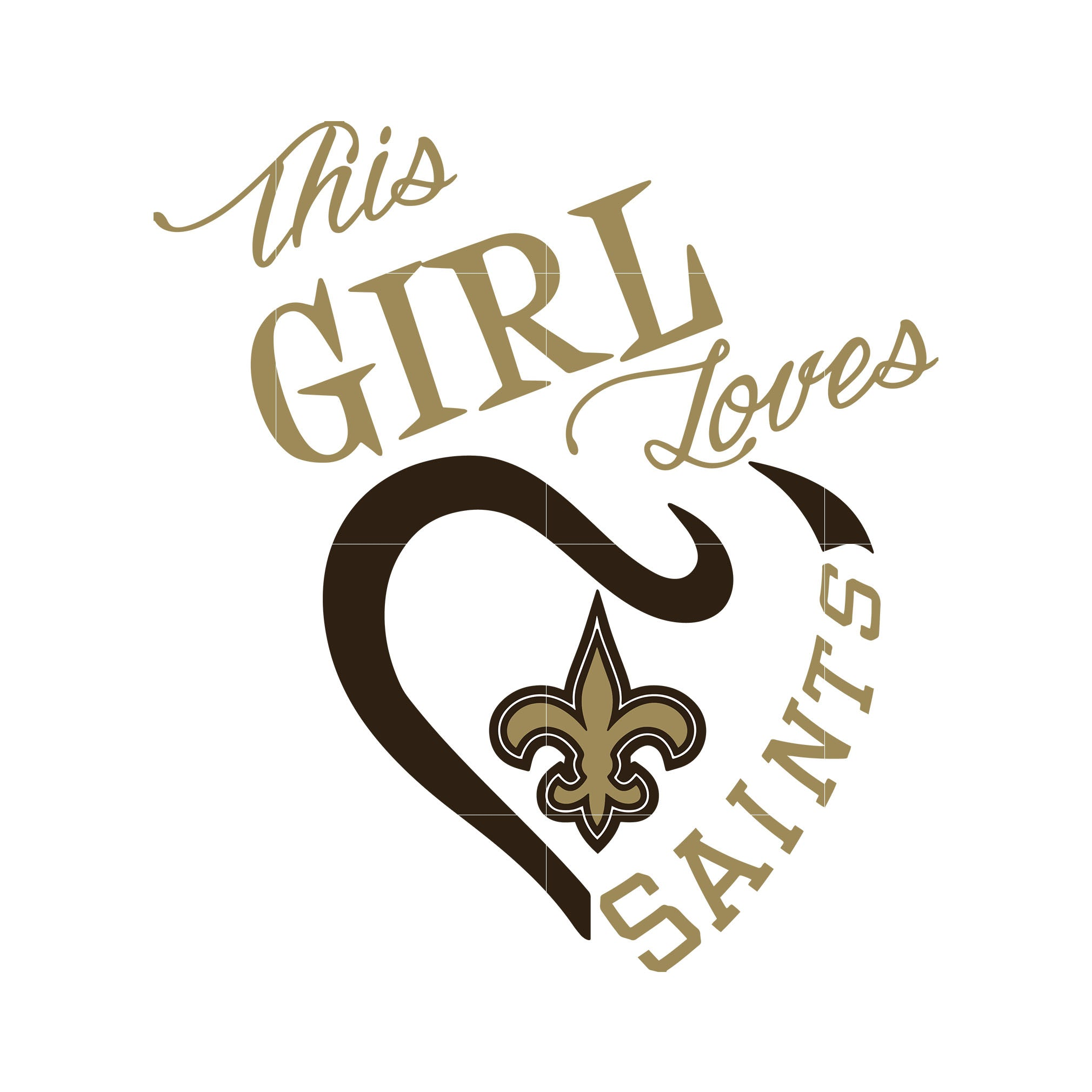 This girl loves saints svg, new orleans saints svg, svg for cut