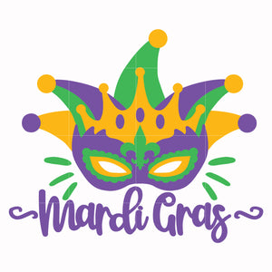 Mardi gras mark svg, mardi gras svg dxf, eps, png digital file