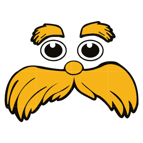 The Lorax face svg, dr seuss svg, dr seuss quotes digital file