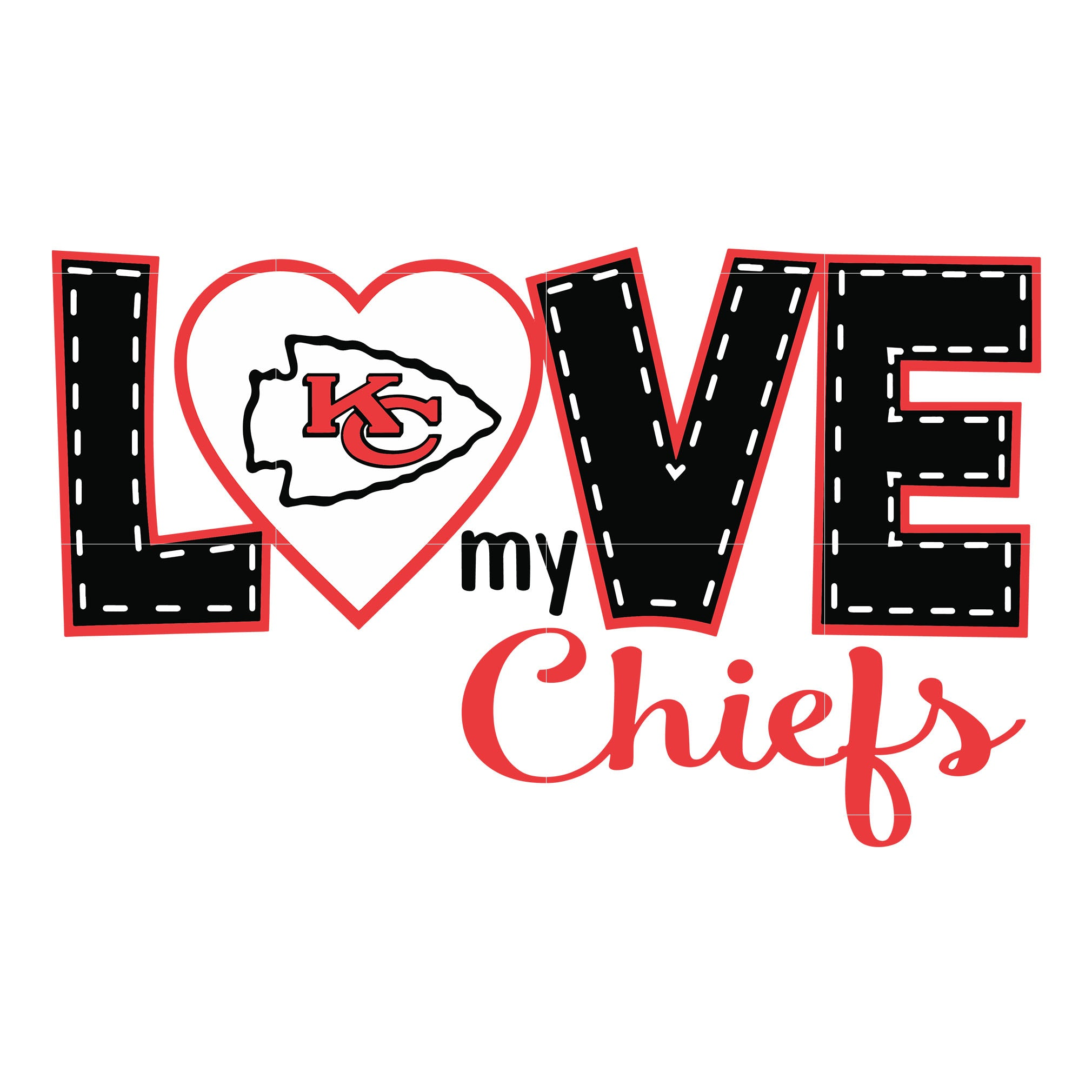 Love chiefs svg, city chiefs svg, chiefs svg for cut