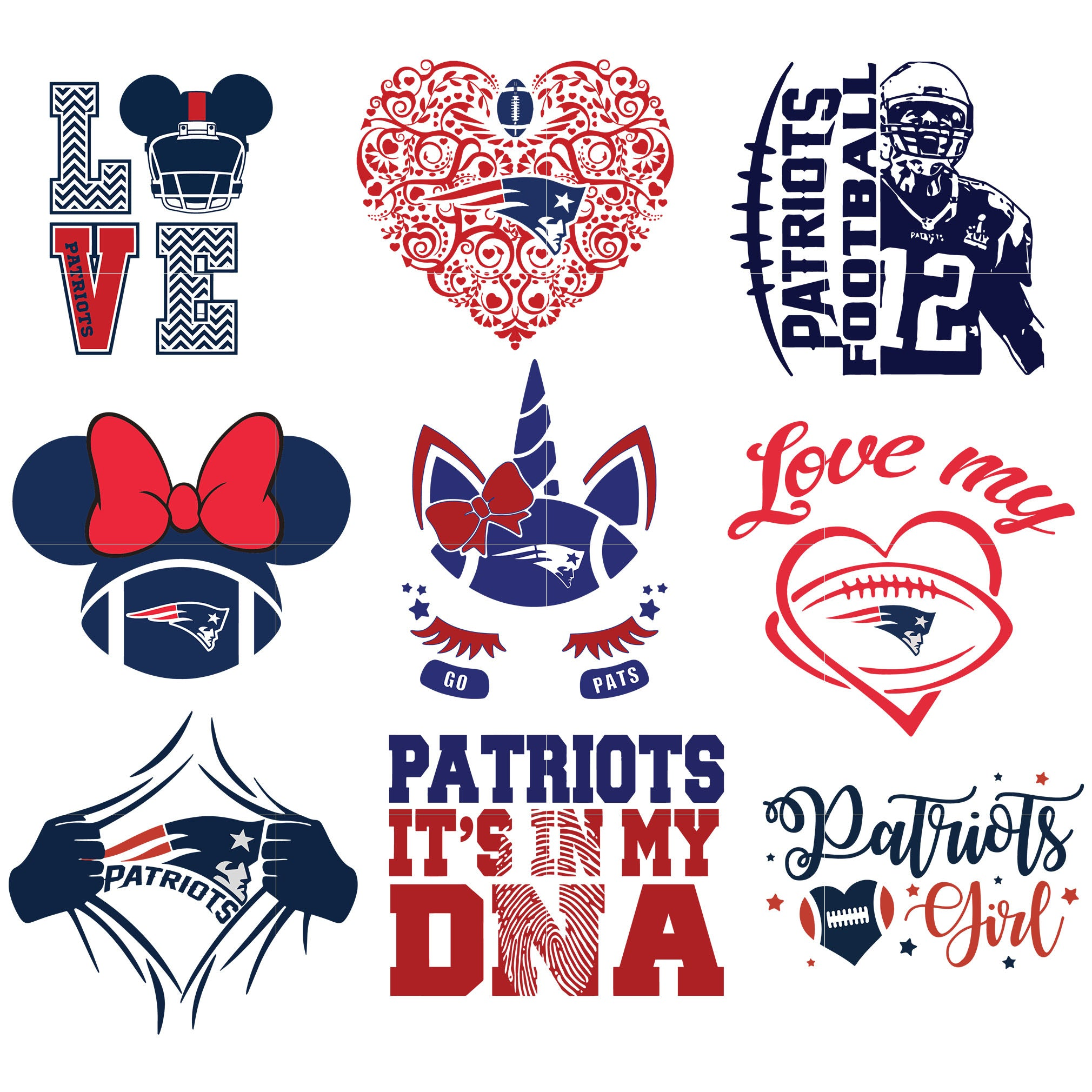 New England Patriots SVG, New England Patriots files, patriots logo, football, silhouette cameo, cricut, digital clipart, layers, png dxf ai