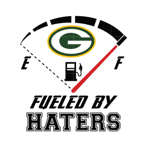 Green bay packers fueled by haters svg, packers svg for cut