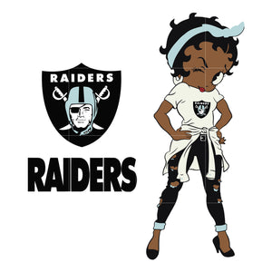 Betty boop Oakland Raiders, Oakland Raiders svg, png, dxf, eps. INSTANT DOWNLOAD