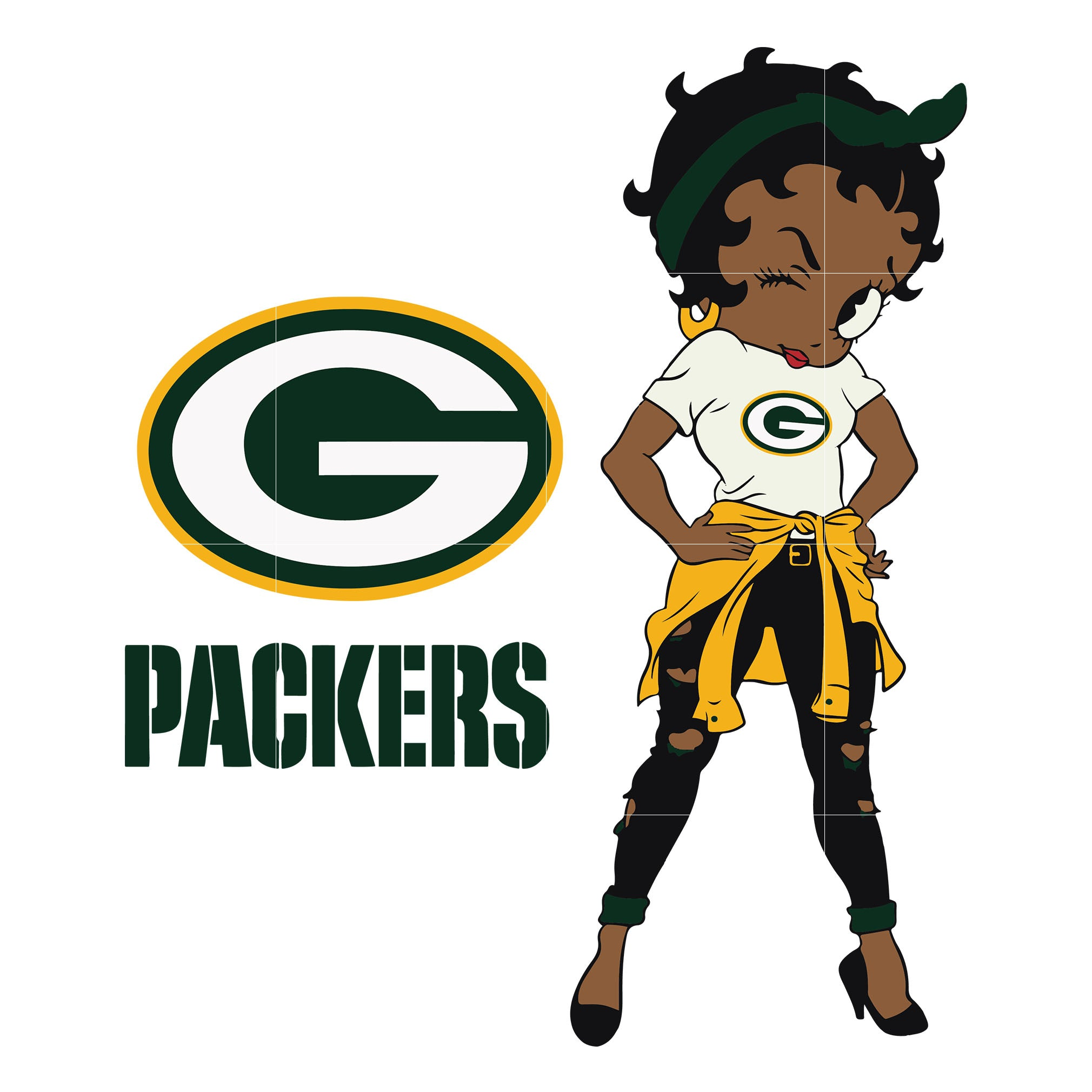 Betty boop Green Bay Packers, Green Bay Packers svg, png, dxf, eps. INSTANT DOWNLOAD