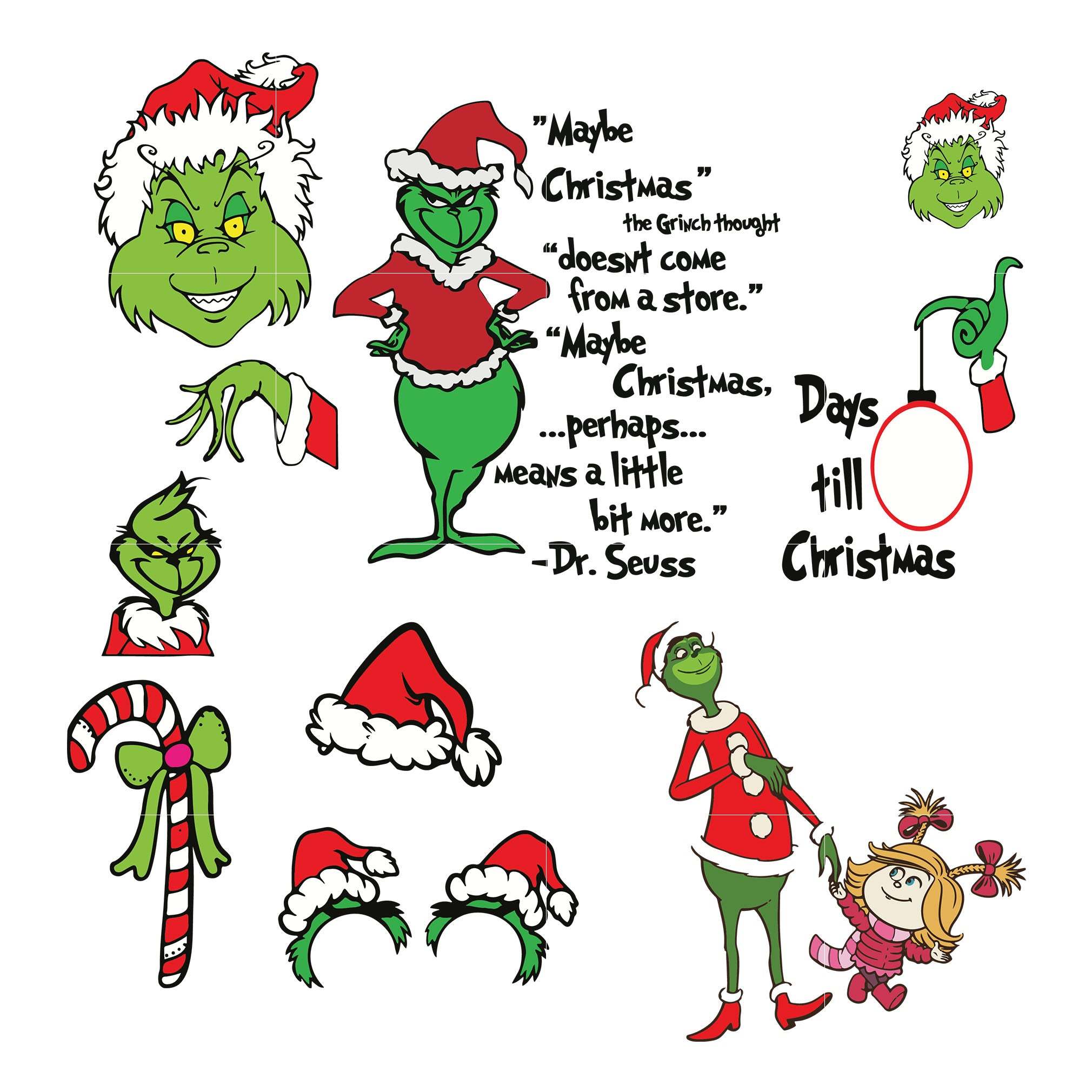Grinch bundle svg, grinch svg png dxf eps digital file